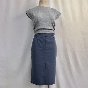 BCBG MaxAzria Front Pleat Pencil Skirt Size 2